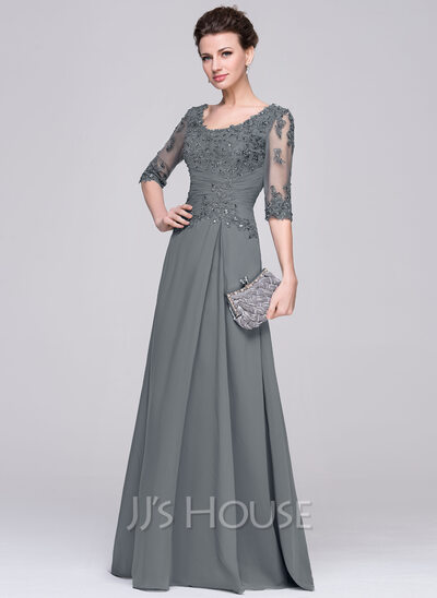 A Line Chiffon Mother Of The Bride Dress 17
