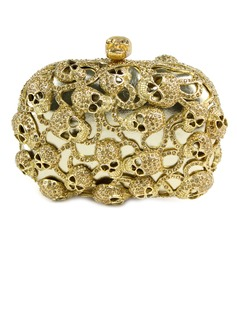 Elegant Metal With Czech Stones Clutches