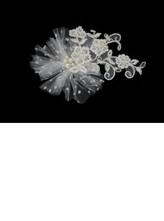 Gorgeous Tulle/ Lace Wedding Bridal Headpiece (042025231)