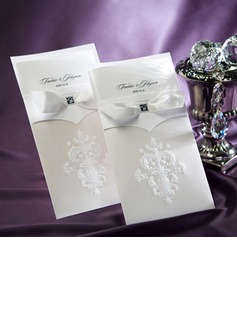 Personalized Floral Style Wrap & Pocket Invitation Cards (Set of 50)