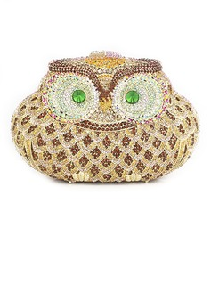 Gorgeous Satin With Crystal/ Rhinestone/Owl Clutches