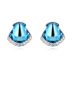 Shining Crystal/Platinum Plated Ladies'/Child's Earrings