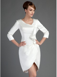 Sheath/Column Short/Mini Charmeuse Mother of the Bride Dress
