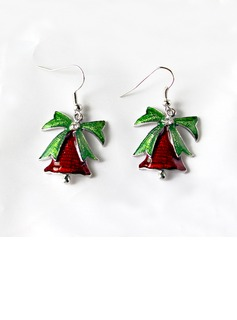 Alloy/Coloured Glaze Ladies' Earrings