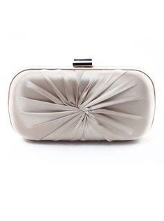Elegant Silk With Ruffles Clutches