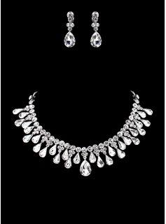Jewelry Sets Anniversary Wedding Engagement Birthday Gift Party Daily Alloy With Rhinestones Silver Jewelry With Rhinestone (011019307)