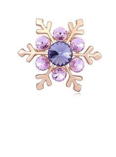 Crystal/Gold Plated Ladies' Pins and Brooches