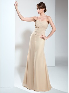 A-Line/Princess Sweetheart Floor-Length Chiffon Mother of the Bride Dress With Ruffle Appliques
