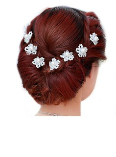 Stylish Alloy/Pearl Hairpins (Set of 2)
