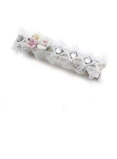 Lovely Rhinestone/Alloy/Lace Hairpins