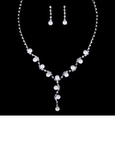 Charming Rhinestones/Faux Pearl Ladies' Jewelry Sets
