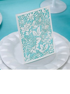 Floral Style Side Fold Invitation Cards (Set of 50)