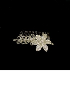 Alloy With Crystal / Rhinestone Women's Hair Combs (042025247)