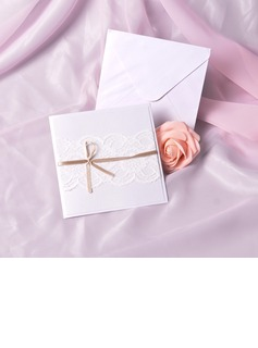 Classic Style Side Fold Invitation Cards With Ribbons (set of 50) (118040260)