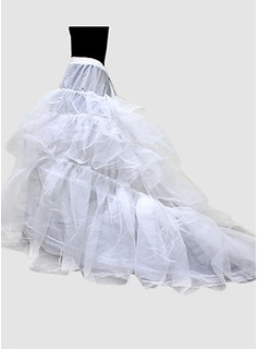 Nylon Ball Gown Chapel Train 1 Tier Floor-length Slip Style/ Wedding Petticoats (037024157)