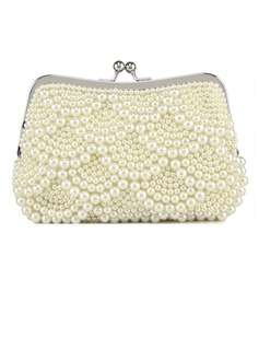 Gorgeous Pearl With Metal Clutches