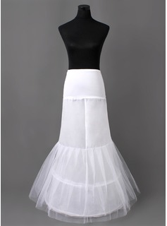 Nylon Mermaid and Trumpet Gown 2 Tier Floor-length Slip Style/ Wedding Petticoats (037005406)
