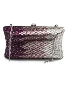 Shining Acrylic With Acrylic Jewels Clutches