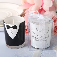 Bride and Groom Candles Favor Set (Pair)  (096024931)