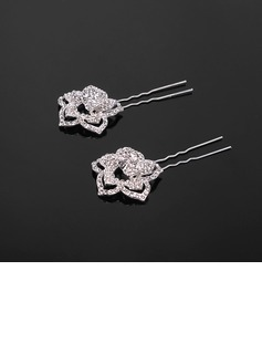 Gorgeous Rhinestone Hairpins Set Of 2