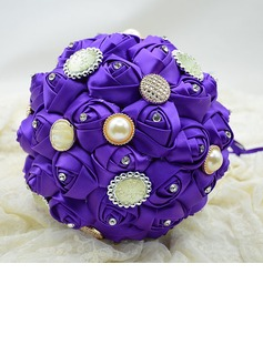 Charming Round Satin Bridesmaid Bouquets