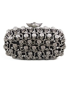 Lovely Metal With Czech Stones Clutches