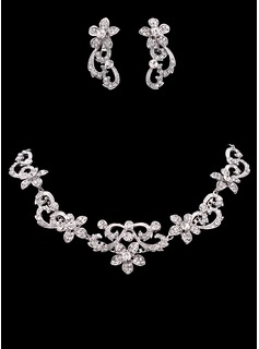 Jewelry Sets Anniversary Wedding Engagement Birthday Gift Party Alloy With Rhinestones Silver Jewelry With Rhinestone (011019278)