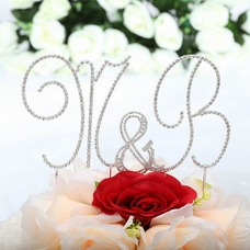 Monogram Chrome Wedding Cake Topper (119030811)