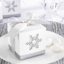 Snow Cut-out Cubic Favor Boxes With Bow (Set of 12) (050026826)