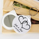 Personalized Double Hearts Plastic Keychains/Compact Mirror  (118030136)