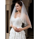 Two-tier Elbow Bridal Veils With Beaded Edge (006035735)