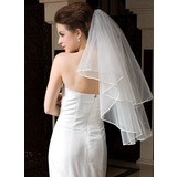 One-tier Waltz Bridal Veils With Ribbon Edge (006036606)