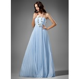 Empire Strapless Floor-Length Chiffon Charmeuse Bridesmaid Dress With Ruffle
