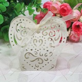 Beautiful Heart-shaped Favor Boxes (Set of 12)