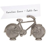 Bicycle Shaped Zinc Alloy Place Card Holders (Set of 4)