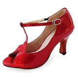 Leatherette Heels Latin Ballroom Dance Shoes (053013185)
