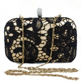 Charming Silk With Lace Clutches