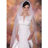 One-tier Fingertip Bridal Veils With Pencil Edge