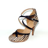 Women's Satin Leatherette Heels Pumps Modern With Bowknot Ankle Strap Dance Shoes