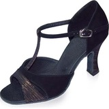 Suede Heels Sandals Latin Dance Shoes
