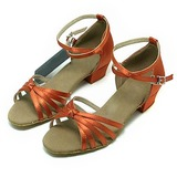 Kids' Satin Sandals Latin Ballroom Dance Shoes