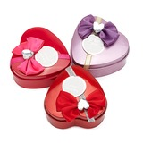 """Sweet Love"" Heart-shaped Favor Tin With Bow (Set of 12)"