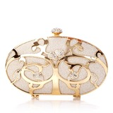 Fashional Stainless Steel With Rhinestone Clutches