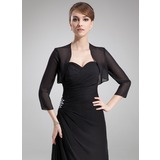 3/4-Length Sleeve Chiffon Special Occasion Wrap (013012275)