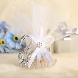 Swan design Favor Boxes With Ribbons (Set of 12) (051024185)