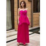 Sheath/Column Sweetheart Ankle-Length Chiffon Charmeuse Chiffon Charmeuse Maternity Bridesmaid Dress With Cascading Ruffles