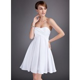 Empire Sweetheart Knee-Length Taffeta Homecoming Dress With Ruffle
