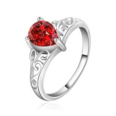 Exquisite Silver Plated With Rhinestone Fashion Rings