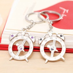 Classic Cute Clock Zinc alloy Keychains (set of 4 pairs)
