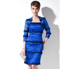 3/4-Length Sleeve Organza Charmeuse Special Occasion Wrap